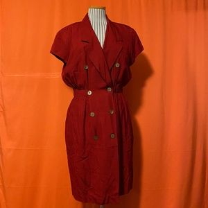1980s Anne Klein Silk Blazer Dress